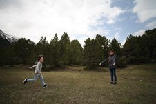 Free Woman And Boy Standing On Pasture Royalty Free Stock Photos - 126807898