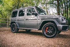 Free Photo Of Mercedes-Benz G-Class Parked On Dirt Road Stock Photo - 126807970