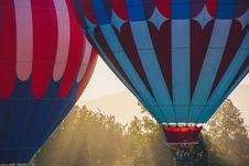 Free Two Hot Air Balloons Royalty Free Stock Photography - 126808057