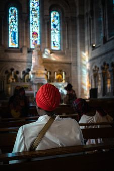 Free Person Sitting Inside Church Royalty Free Stock Photos - 126808298