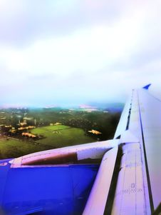 Free View From Aeroplane/aircraft - Hyderabad , India Stock Images - 126834634