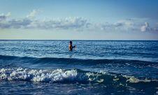 Free Man Fishing On Body Of Water Royalty Free Stock Photo - 126898365