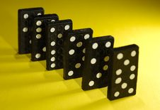 Free Dominoes Royalty Free Stock Photo - 1270415