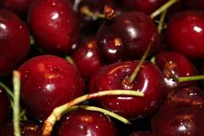 Free Cherries Close Up Royalty Free Stock Images - 1271799