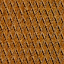 Rusty Steel Floor Plate, Seamless Stock Photo