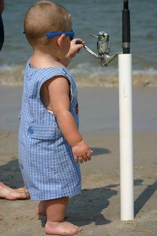 Free Baby Fisherman Royalty Free Stock Photography - 1273347