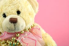 Free Christmas Bear And Pearls Stock Photo - 1273700