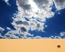 Free Sky Behind The Wall Stock Images - 1275044