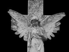Free Gothic Angel Isolated On Black Stock Image - 1275261