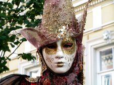 Masked Face Stock Image