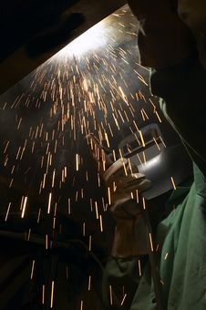 Free Welder View Royalty Free Stock Photos - 1276318