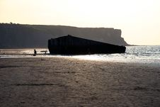 Free The Landing Beaches At Arromanches, France. Royalty Free Stock Photos - 1277458
