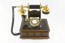 Free Old Style Telephone 2 Royalty Free Stock Image - 1278426