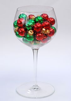 Free Christmas In A Glass Royalty Free Stock Photo - 1278475