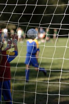 Free Soccer Goal Being Made Royalty Free Stock Images - 1278999