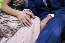 Free Woman Holding Man S Hand Royalty Free Stock Photography - 127259977