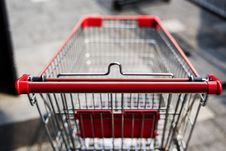Free Photo Of Red And Silver Grocery Cart Stock Image - 127260071