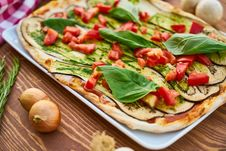 Free Baked Eggplant With Sliced Tomatoes And Spinach Royalty Free Stock Photo - 127260085