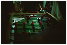 Free Person Standing Near Foosball Table Stock Photography - 127260712