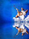 Free Flying Cupid Royalty Free Stock Photo - 12731985