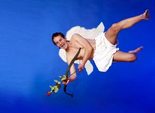 Flying Cupid Royalty Free Stock Photography