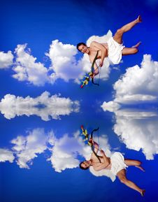 Free Flying Cupid Stock Photo - 12731960