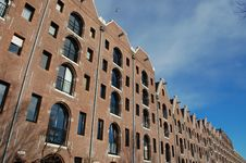 Free Modern Amsterdam Canal Houses Stock Image - 12746891