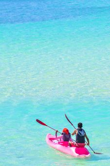 Free Photo Of People In Pink Kayak Stock Photography - 127450182