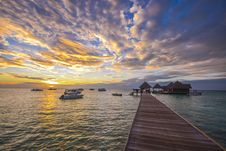Free Wooden Dock During Sunset Royalty Free Stock Image - 127450196