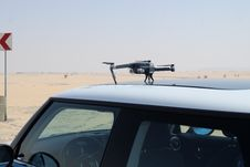 Free Photo Of Drone On Top Of Car Royalty Free Stock Photos - 127494188