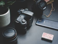 Free Black Sony Dlsr Camera Royalty Free Stock Image - 127767136