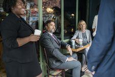 Free People Having A Coffee Break Stock Image - 127767361