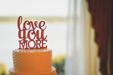 Free Cake With Cake Topper Stock Photography - 127767482