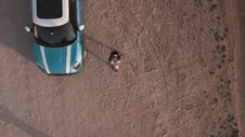 Free Aerial Shot Of Person And Car Royalty Free Stock Images - 127767489