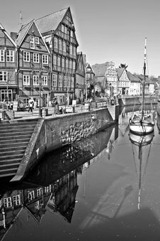 Free Reflection, Waterway, Water, Black And White Stock Images - 127905524