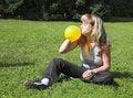 Free Girl Cheats Air-ball Stock Image - 1288931