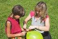 Free Boy And Girl Cheats Varicolored Air-ball Stock Photo - 1288970