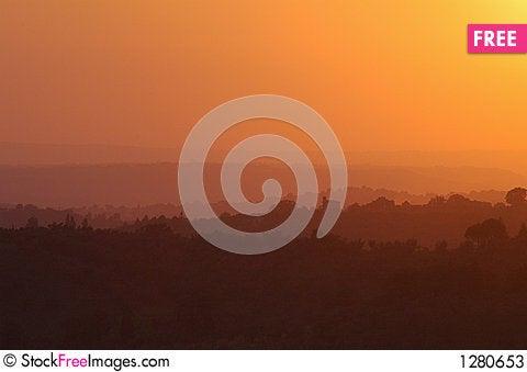 Free Tuscany Sunset Stock Photos - 1280653
