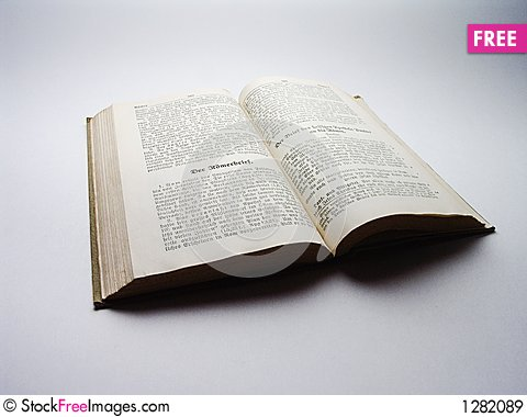 Old Book - Old German Bible Stock Photo