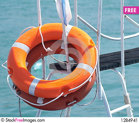 Two ring-buoy Stock Photo