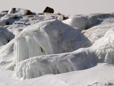Free Rocks Covered By Ice Stock Image - 1280111