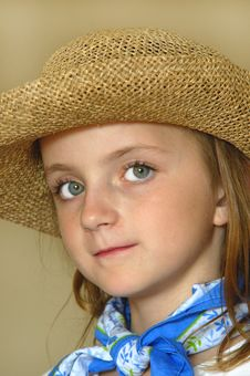 Free Little Girl In Hat Royalty Free Stock Photos - 1281138
