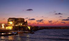 Free A Restourant Near A Sunset Sea Stock Photos - 1281953