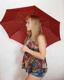 Free Young Woman With Umbrella Stock Photo - 1283290