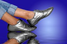 Free Silver Footwear Royalty Free Stock Images - 1283729
