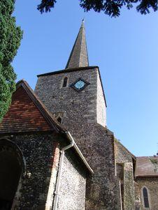 Flintstone Church In Eynsford, Kent, England Royalty Free Stock Photography
