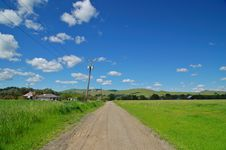 Rural Spring Countryside Stock Images