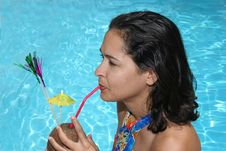 Free Drink By The Poolside Stock Photo - 1284840