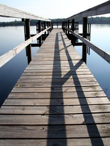 Free Fishing Dock Royalty Free Stock Photo - 1285105