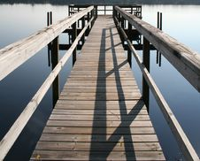Fishing Dock Stock Photography